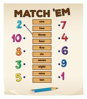 Matching game with numbers
