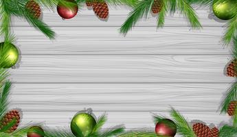 Gränsmall med pinecones och ornament