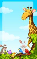 Background template with wild animals