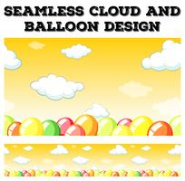 Seamless cloud and balloon design