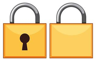 Padlocks front and back vector