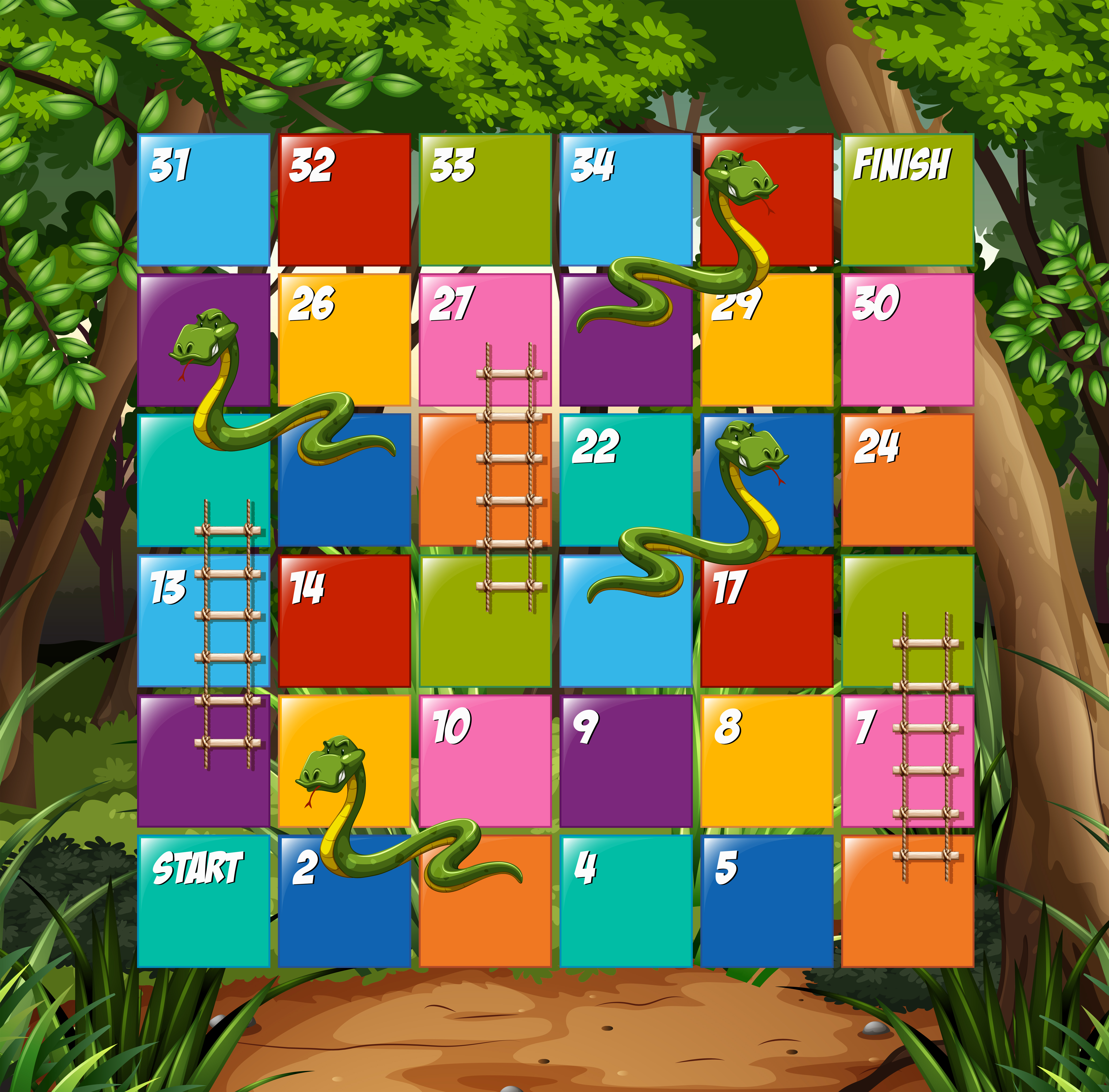 Snakes and Ladders Board Game by McStacey on DeviantArt