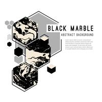 Abstrait avec des formes géométriques et marbre noir