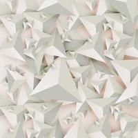 Triangles 3D abstraits sur fond clair, illustration vectorielle