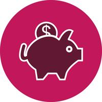 Vector Piggy Bank Icon