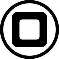 Vector pictogram stoppen
