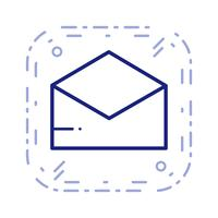 Vector envelop pictogram