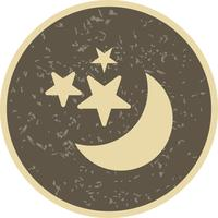 Moon And stars Vector Icon