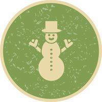 Icona di vettore del pupazzo di neve