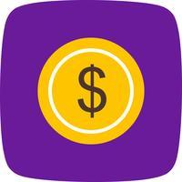 Icona di dollari di vettore