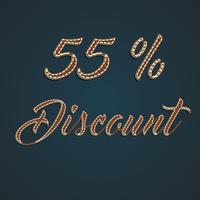 Insieme di percentuale di cuoio realistico, illustrazione di vettore
