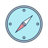 Icona della bussola vettoriale