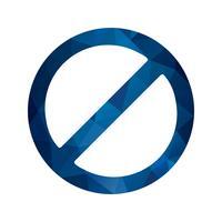 Icône de vecteur interdit
