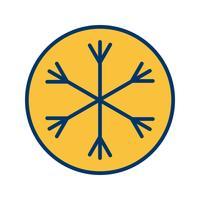 snö vektor ikon