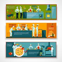 cuisine ensemble de bannière de personnes