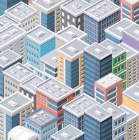 Draufsicht des Stadtbildes