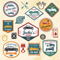 Retro Car Labels