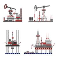 Oil Petroleum Platform Set