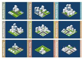 Set of urban areas of modules