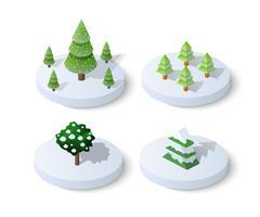 Winter besneeuwde Kerstmis pictogram