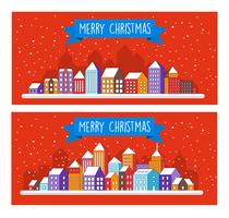 Christmas decor design winter street