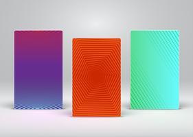 Färgrik abstrakt flygblad / affischmall, vektor illustration