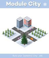 Winter Weihnachten Stadtquartier-Module
