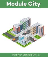 Urban district of the city in isometric