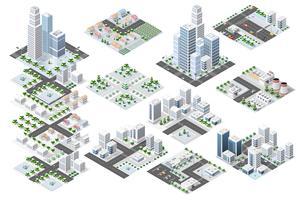 Conjunto distrito urbano de la ciudad.