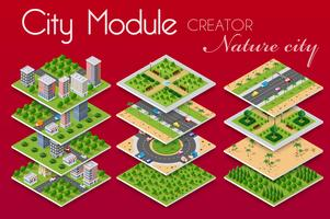 concept of urban infrastructure business. vector
