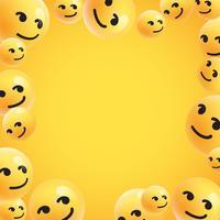Groep van hoge gedetailleerde gele emoticons, vectorillustratie