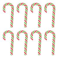 High detailed red and green candy cane, vector illustration