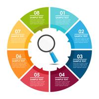 Magnifying glass infographic