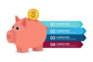 Piggy bank infographic