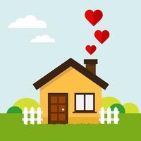 Love heart house