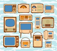 Set broadcast vector illustrations icon