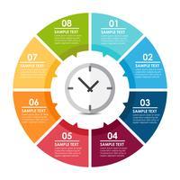 Infografía reloj vector