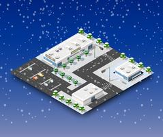 Winterlandschaft der Stadt