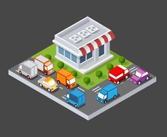 Isometrischer 3D-Shop