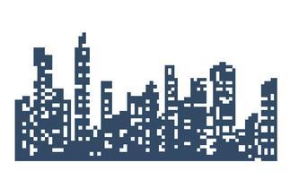 Silhouet van het stadslandschap