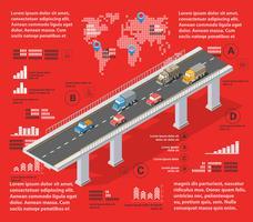 Röd illustration infographics