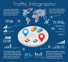 Infografica di strada urbana