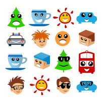Emoji emoticon expresión iconos