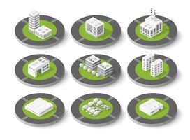 Conjunto isométrico urbano de la ciudad.