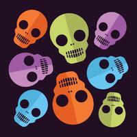 Cráneo de Halloween patrón conjunto de decorativos