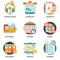 Business icons set for business, marketing