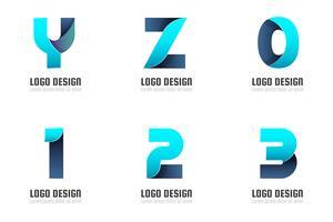 Modernes minimales Vektor-Logo für Banner