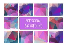Polygonal background for craft vector