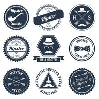 Jeu d'étiquettes hipster