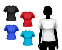 Conjunto de camisetas de mujer.